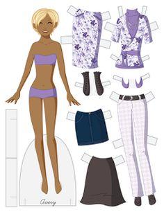 Paper Doll School: Fashion Friday Doll - Avery