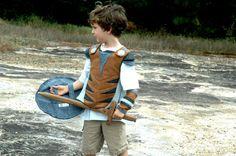 Viking Breastplate - GREY and BROWN -  Kid Costume, Adventure Gear