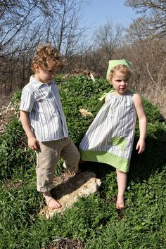 Brother sister summer outfit by lilbethkids on Etsy, $37.00