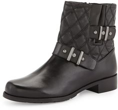 Stuart Weitzman Download Quilted Ankle Boot, Black