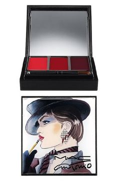 MAC Antonio Lopez 3 Colors  RED Lip Palette >>> You can get additional details at the image link. (Note:Amazon affiliate link) #MakeupPalettes