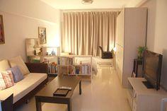 Small Apartment Inspiration - bonne séparation mais lumière traversante !