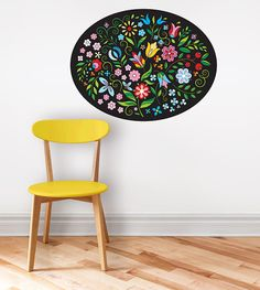 *Wonderfull original colorful flower illustration illustrated by Mojca Dolinar. Ready to brighten your wall. *It is made of high quality, self-adhesive vinyl. It has a matt surface which means it looks like painted when apllied to your wall. Wall decal is removable and will not ruin your surface.  *It can be applied to any clean, smooth, flat and semi textured surface and is intended for interior use only.  *MEASUREMENTS 82 x 63 cm - 32.3 x 24.8 inches 112 x 85 cm - 44 x 33.5 inches  Each…