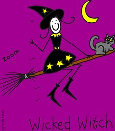 Wicked witch By Purple Ronnie