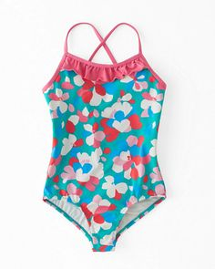 Ruffle-Trimmed One-Piece Swimsuit - Girls