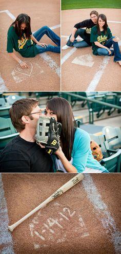 engagement-pictures- but football Wedding Pics, Wedding Bells, Dream Wedding, Wedding Ideas, Wedding Stuff, Sports Wedding, Wedding 2015, Couple Photography, Engagement Photography