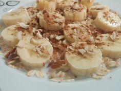 Sağlıklı ve Lezzetli Atıştırmalık ♥ Muzlu Yulaf Ezmesi  ***  Healthy&Delicious Snack ♥ Oatmeal Banana Cinnamon