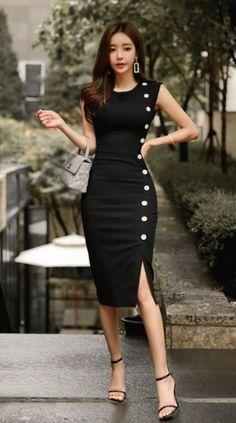 Women's Sleeveless High Neck Maxi Dress -Universal Thread™ - Cute classic black dress design – Black Dresses – Ideas of Black Dresses – Source by - Elegant Dresses, Sexy Dresses, Cute Dresses, Beautiful Dresses, Casual Dresses, Short Dresses, Dresses For Work, Summer Dresses, Formal Dresses