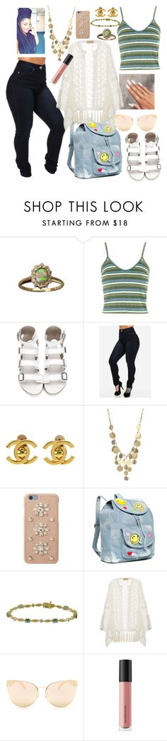 """""""Untitled #130"""" by raven-so-cute ❤ liked on Polyvore featuring Topshop, Chanel, Kenneth Cole, MICHAEL Michael Kors, Red Camel, ADRIANA DEGREAS, Quay and Bare Escentuals"""