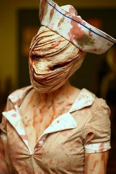 Silent Hill. This is creepy! This is want I want to be... My kids may not sleep for awhile LOL. Are you looking for scary horrifying Halloween makeup ideas for women to look the best at the Halloween party? See our photo collage to pick the one that fits the Halloween costume.