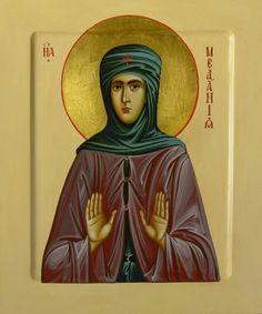 St Melania [the Younger] the Roman / Wood, egg tempera, 20х17 cm. 2012
