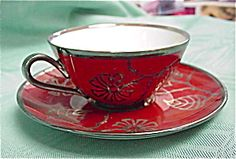 Hutschenreuther Rust & Silver Teacup