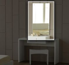 """Modrest Roma Modern Wall Mirror. RectangularMatches Roma Bedroom CollectionVanity Not Available Dimensions  W47"""" x D1"""" x H20"""" RectangularMatches Roma Bedroom CollectionVanity Not Available Color:  Other Finish:   Product ID(s):  15684"""