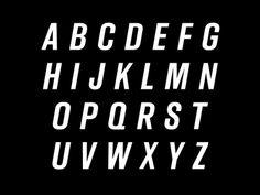 Stuart O'Grady Cycling Typeface