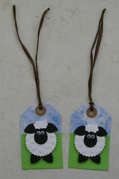 This would be adorable to use earring studs for sheep eyes