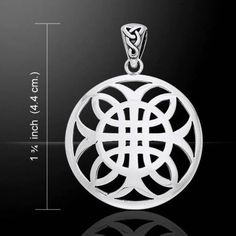 Celtic Cross of Harmony Pendant in .925 Sterling Silver This item was designed by Artist Courtney Davis and created out of the finest .925 sterling silver by Peter Stone Artisans. This pendant is 1 3/