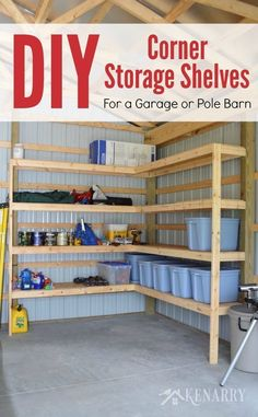 How to insulate a pole barn pole barn insulation options pole great idea for diy corner shelves to create storage in a garage or pole barn solutioingenieria Choice Image