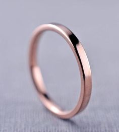 Polished 2 mm Rose Gold Band by LilyEmme Jewelry on Scoutmob Shoppe