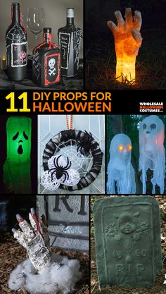 Take your Halloween decorations to the next level by creating them yourself. Here are 9 DIY Halloween decorations perfect to scare your neighbors. Halloween Sewing, Halloween Scrapbook, Halloween Crafts, Happy Halloween, Halloween Ideas, Halloween Letters, Halloween Images, Wholesale Halloween Costumes, Outdoor Halloween