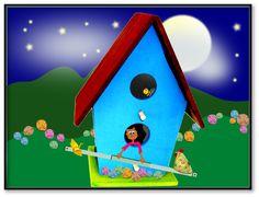 Ilustração Ludimila na casinha