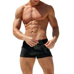 Swimwear Men's Swimsuits Surf Board Beach Wear Man Swimming Trunks Boxer Shorts Swim Suits Gay Pouch WJ #Affiliate