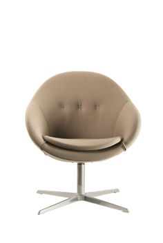 Swivel Easy Chair With 4 Spoke Base KOKON™ CLUB   Varier Furniture