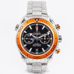 Omega Seamaster Planet Ocean Chronograph Black Dial Orange Bezel Caliber 9300 Dive Watch 232.30.46.51.01.002 - MXVWKB - Omega Seamaster Planet Ocean Chronograph Black Dial Orange Bezel Caliber 9300 Dive Watch 232.30.46.51.01.002 Omega caliber 9300, beats at 28,800 vph, contains 54 Jewels & has an approximate power reserve of 60 hours - thanks to its twin barrels mounted in series.Column-Wheel Chronograph - column wheel is visible from the transparent case back. The movement features Omega's…