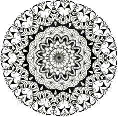 Curls For You Mandala Zentangle Doodle Drawing by KathyAhrens on DeviantArt