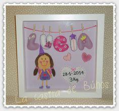 Cuadro en fieltro 25cm x 25 cm inspirado en hadas. Fairy felt frame for kids & babies