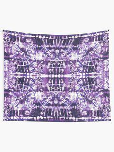 """Tie-Dye Spiral Shibori"" Tapestry by ninabmay | Redbubble Textile Prints, Textiles, Tie Dye Fashion, Thing 1, Fabric Art, Shibori, Wall Tapestry, Vivid Colors, Spiral"