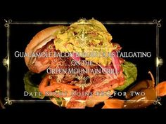 Guacamole Bacon Burger Goes Tailgating on the Green Mountain Grill