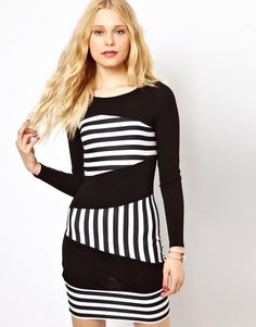 8168ed276cc9 Women s Fashion River Island Column Stripe Panel Mini Dress