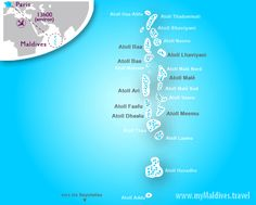 Where is Maldives ? It is over 1,000 coral islands scattered across a large area in the middle of the Indian Ocean.