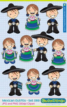 off Mexican Outfits Clipart China Poblana and Charro Kids illustrations, cinco de mayo clipart, fiesta mexicana illustrations 069 Mexican Costume, Mexican Outfit, Mexican Art, Mexican Style, Holidays To Mexico, Mexican Birthday, Charro, Cartoon Pics, Cute Images