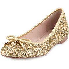 kate spade new york willa glitter ballerina flat