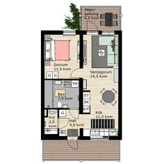 BoKlok build blocks of flats and terraced houses for you who long for a new home, but still want to have money left at the end of the month. Sims House Plans, Small House Plans, Sims 4, The Sims, Compact Living, Small Spaces, Floor Plans, House Design, Villa