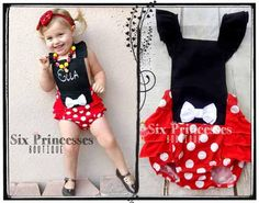 dd463d041370 Minnie Bubble Romper Ruffle Butt Halter Style Mouse Disney Birthday First  Second Party 1st 2nd monogrammed