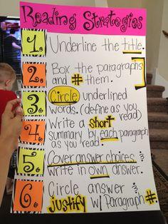 Staar Reading Strategies!!