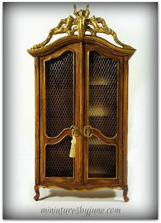 Miniature Furniture by June Clinkscales   Armoire   1:12 scale