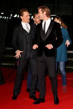 torrilla:  Tom Hiddleston and Chris Hemsworth attend THOR: The Dark Kingdom Germany premiere at CineStar on October 27, 2013 in Berlin, Germ...