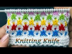 बहुत आसान बुनाई डिज़ाईन।Easy 4 Row Multicolor Knit Pattern for Baby Apparel/Ladies Cardigan/Coats. - YouTube