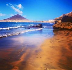 Playa de La Tejita, el Médano,  Tenerife, Canary Islands, Spain.