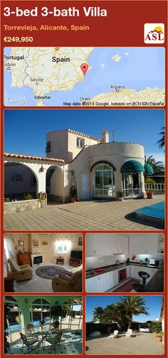 3-bed 3-bath Villa in Torrevieja, Alicante, Spain ►€249,950 #PropertyForSaleInSpain