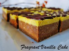 Raw Pumpkin Brownies | Fragrant Vanilla Cake