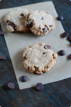 Espresso Almond Butter Chocolate Chip Cookies