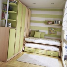 Small Bedroom Ideas for Cute Homes Double deck bed Double loft