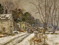 ca 1930 Edward Redfield (American New Hope Impressionist, 1869-1965) ~ Fleecydale Road