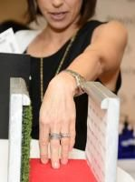 Pandora gifted its rings to guests and provided a mini red carpet—complete with a tiny step-and-repeat wall—for hand photo ops. It was a logical complement to the adjacent manicure stations.
