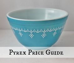 Introducing My New Vintage Pyrex Price Guide - Jan. 15, 2016 by Diana — Hi everyone! I hope you had a great week. I prepared some baked goods using some of my Pyrex this week, and it put me in the mood to write about it. So, today I'm publishing my sixth price guide on this very popular collectible. [...]
