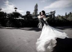 Audrey liet deze leuke trouwfoto in de Efteling maken